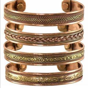 Various Authentic Tribal Print Copper Bracelets